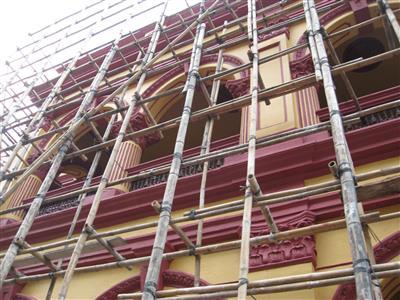 外牆搭棚開展工程