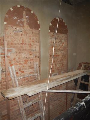 主樓牆身保留並顯露原有磚牆